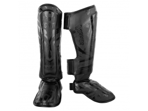 shinguards venum gladiator black black f1