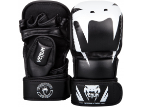 mma gloves rukavice venum sparring impact black white f1
