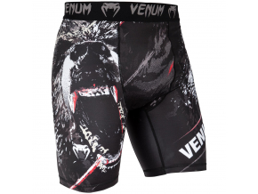 short venum mma compression grizzli black white f1