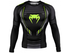 rashguard long venum technical 2.0 black yellow f1
