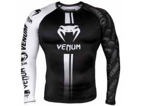 rashguard long venum logos black white f1