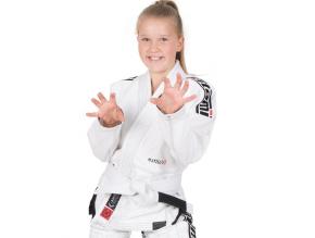 dettske gi kimono bjj tatami kids estilo6 white f1