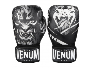 boxing gloves venum devil black white f1