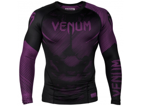 rashguard long sleeves venum nogi black purple f1