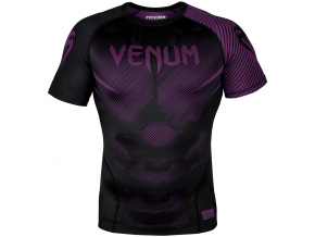 rashguard venum short sleeves nogi black purple f1