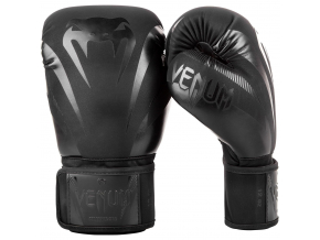 boxing gloves venum impact black black f2