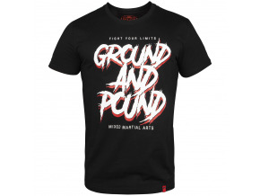 tshirt venum ground and pound black f1