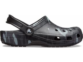 Crocs Classic Seasonal Graphic Clog - Black/Grey