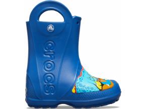 CrocsFL Dino Rain Boot K Blue Jean - Blue Jean