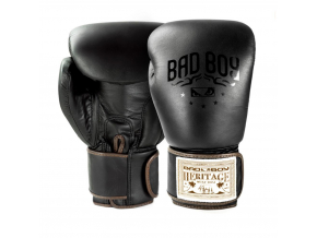 BadBoy Heritage Boxing Gloves Black boxerske rukavice f1
