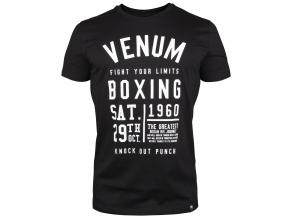 tshirt tricko venum boxing black f1