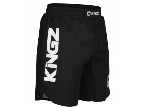 kingz competition black mma shorts nogi f1