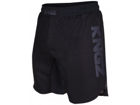 kingz competition crown black mma shorts nogi f1