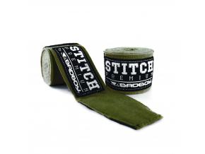 BadBoy Handwraps Stitch Premium Green Army 01