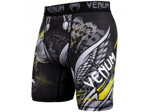 venum short compression viking 2.0 black yellow f1
