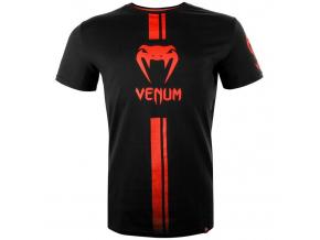 venum 03449 100 tshirt tricko logos black red f1