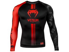 venum 03451 100 s rashguard long sleeve logos black red f1