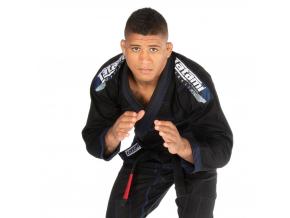 gi kimono bjj brazilian jiu jitsu tatami elements 2 black cerne f1