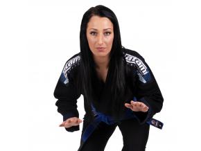 bjj gi kimono brazilian jiu jitsu tatami elements ladies black f1