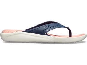 Crocs LiteRide Flip - Navy/Melon