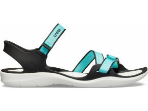 Crocs Swiftwater Webbing Sandal W - Pool/White