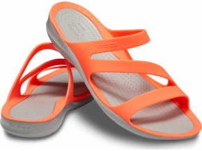 Crocs Swiftwater Sandal W - Bright Coral/Light Grey