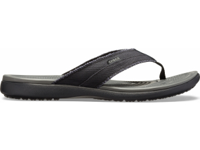 Crocs Santa Cruz Canvas Flip M - Black/Slate Grey
