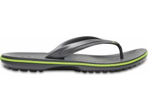 Crocs Crocband Flip  Graphite/Volt Green