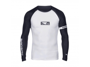 BADBOY OSS GRAPPLING RASH GUARD LS WHITE 01