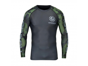 BADBOY DELTA RASH GUARD BLACK GREEN 01