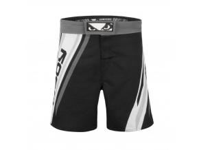 mma shorts badboy pro series black white kratasy f1