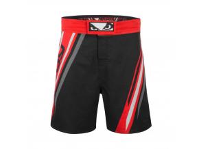 mma shorts badboy pro series black red kratasy f1