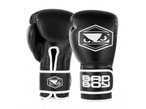badboy strike boxing gloves black white boxerske rukavice f1