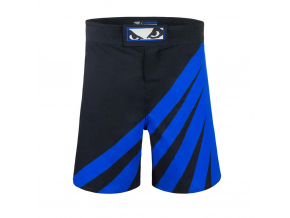 bad boy training series impact mma shorts black blue sortky f2