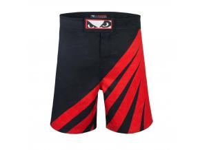 bad boy training series impact mma shorts black red sortky f2