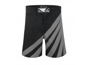 bad boy training series impact mma shorts black grey sortky f2