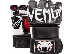 mma rukavice gloves venum undisputed2 black white f1