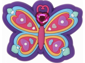 Crocs Odznáček Jibbitz - Rhinestone Butterfly