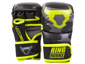 rh 00027 116 sparring gloves black neoyellow rukavice f1