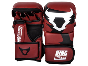 rh 00027 003 sparring gloves charger red black rukavice f1
