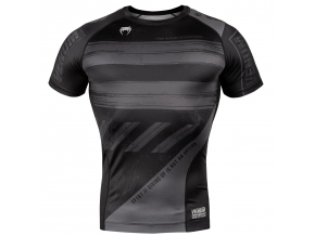 venum 03693 109 rashguard short sleeves amrap black grey f1