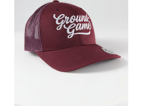 Kšiltovka Ground Game COLLEGE BURGUND TRUCKER