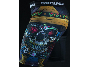 Kompresní kraťasy Vale-Tudo Ground Game MEXICAN SKULL