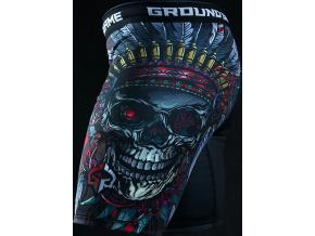 Kompresní kraťasy Vale-Tudo Ground Game Indian Skull