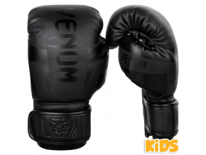 rukavice venum elite kids black f1