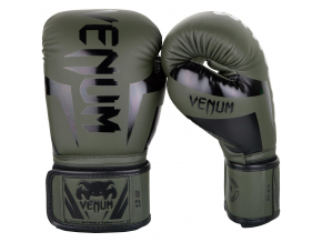 venum 1392 200 boxing gloves boxerske rukavice elite khaki black f1