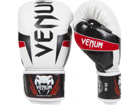 eu venum 0985 10oz boxing gloves boxerske rukavice elite white black red f1