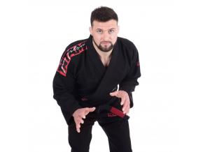 gi bjj kimono tatami red bar black f1