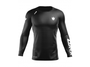 rashguard kingz ranked v5 long sleeves dlouhy rukav black f1