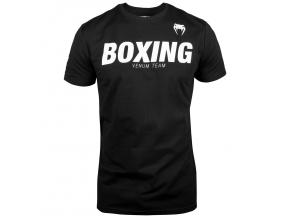 tricko venum boxing VT black white f1